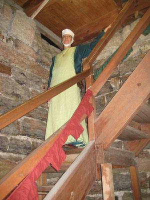 Die Turmherrin schaut nach dem rechten, sie hatte ja auch den Schlüssel.