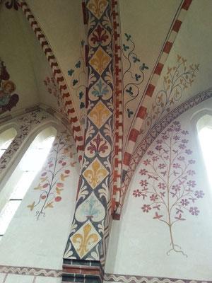 Bei einer umfassenden Restaurierung 1899 wurden diese Malereien freigelegt, wieder hergestellt und ergänzt.