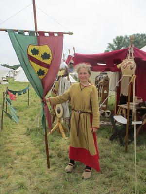 Unsere Schildmaid Johanna, die neue Bannerträgerin.