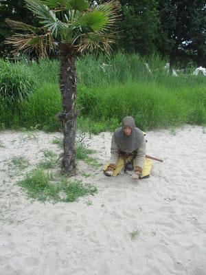 Sand überall Sand
