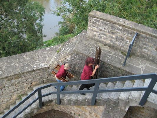 Am Freitagnachmittag zogen wir in den Turm ein.