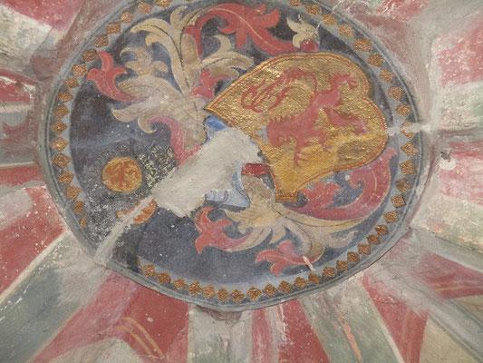 Deckengemälde mit dem Wappen der Grafen von Katzenellenbogen