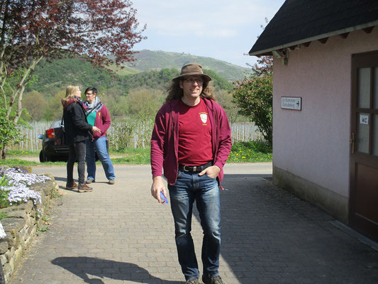 Ankunft am Disibodenberg