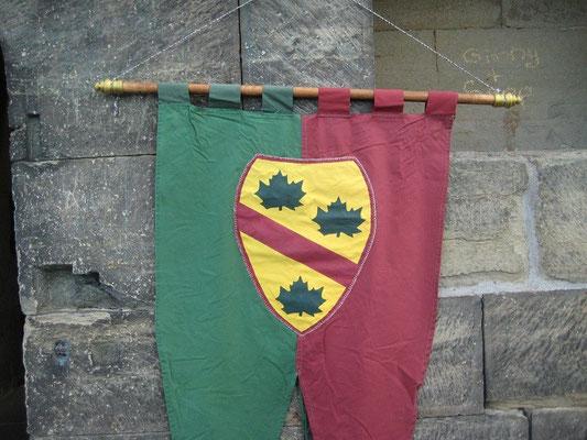 Unser Banner am Eingang des Turmes,daß erfüllt einen mit Stolz aber auch Demut.