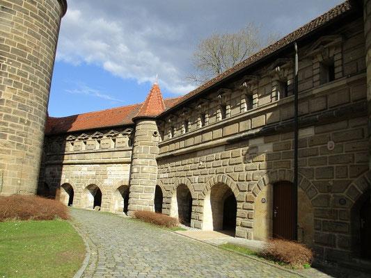 Der Innenhof der Festung