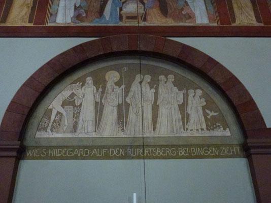 Die vielen  wichtigen Stadtionen im Leben der Hildegardis sind aufgeführt