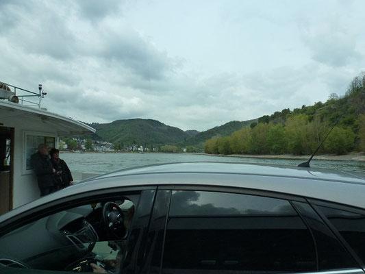 Die Fähre bei Boppard ist schon abenteuerlich.