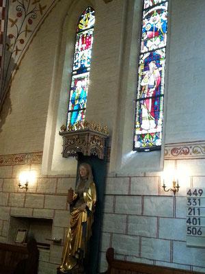 Die Figur der Maria Magdalena wurde im 15Jhr. geschaffen. Sie ist die Schutzheilige der Stecknitzfahrer