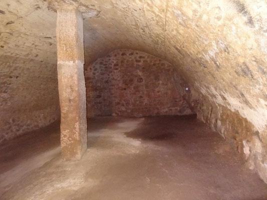 Darunter liegt der einstige Lagerkeller für Bier und Wein