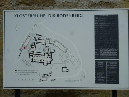 Lageplan des Klosters