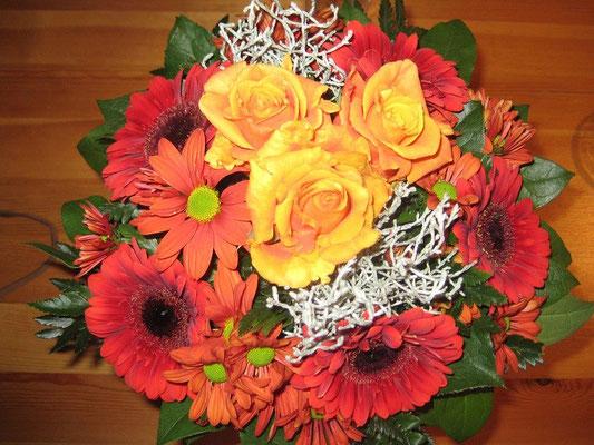 Vielen Dank für die Blumen.