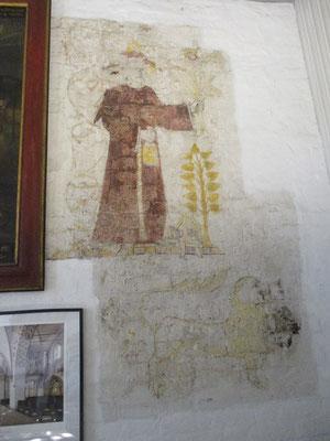 Sehr schöne Wandmalerei gleich im Eingangsbereich
