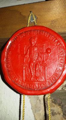 Amtlich und genehmigt mit Siegel König Heinrichs VII