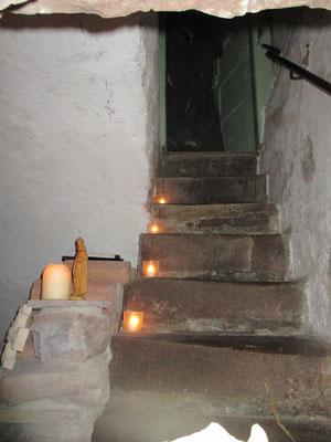 Der Treppenaufgang zu den Gemächern