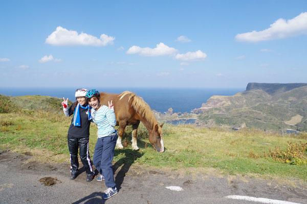 馬と一緒に♪