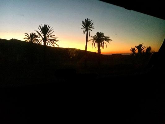 Gute Nacht Blick aus unserem Dachfenster