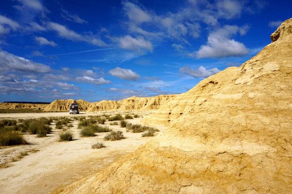 Ein kleines Stück Wüste in Europa. Parque natural de Bardenas Reales