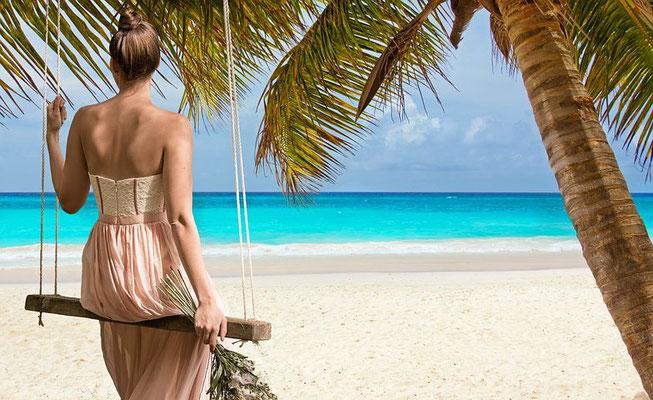Strand-beach-Palme-urlaub-curacao-ferienhaus-karibik
