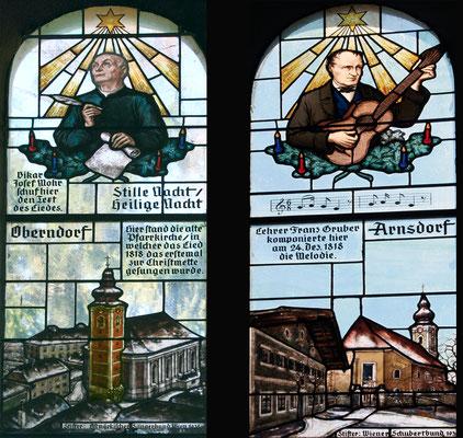 Glasfenster in der Kapelle von Oberndorf