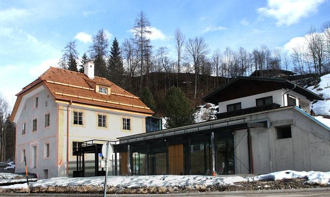 Wagrain, Pflegerschlössel - Stille Nacht  Museum, im März 2017 noch eine Baustelle