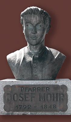 Joseph Mohr Büste in Hintersee