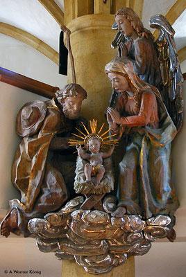 Wagrain, Krippendarstellung in der Kirche
