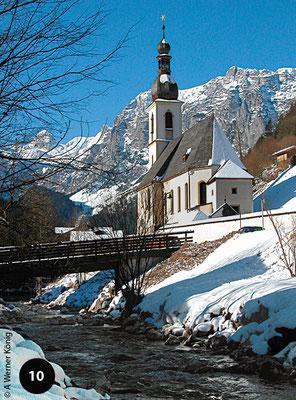 Kirche von Ramsau - die erste Priesterstelle von Joseph Mohr