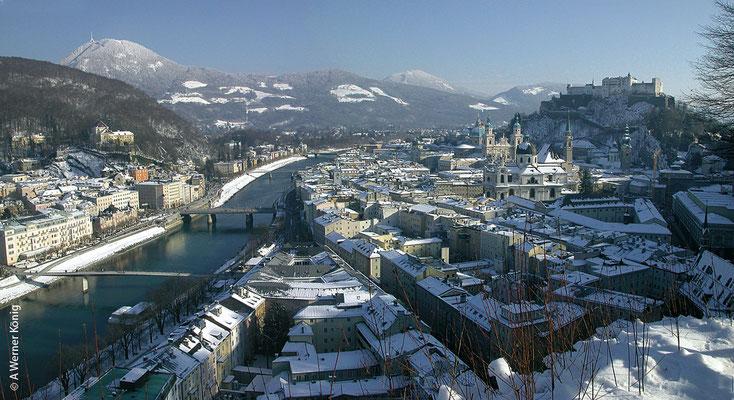Salzburg im Winter - die Geburtsstadt von Joseph Mohr