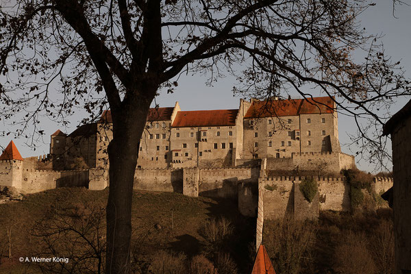 Burghausen: Ausschnitt aus der Burganlage
