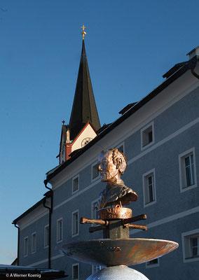 Joseph Mohr Denkmal in Mariapfarr