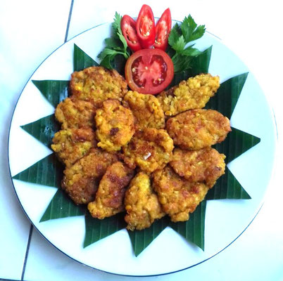 Vegetarian fritter snack with Jagung - my all time favourite!