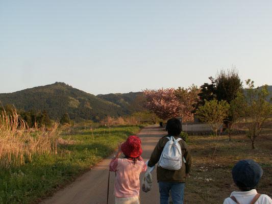 帰り道8 景色のきれいな難台山の麓を 愛宕山方面へ歩く。