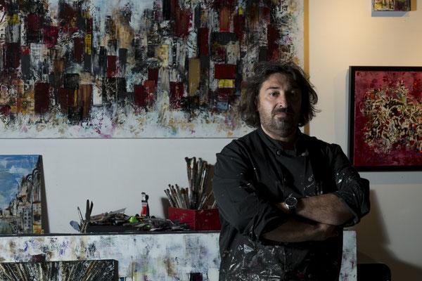 artiste peintre-portrait-Gilles Auteroche-photographe-Montpellier-Narbonne-Béziers-Carcassonne-Perpignan-Toulouse