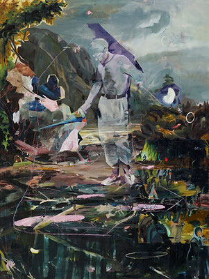 try being nsked, when you walk on the fieds | 2020 | oil on canvas | 200 x 150 cm