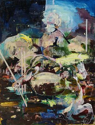 Im Schatten der Zeit | 2020 | oil on canvas | 170 x 130 cm