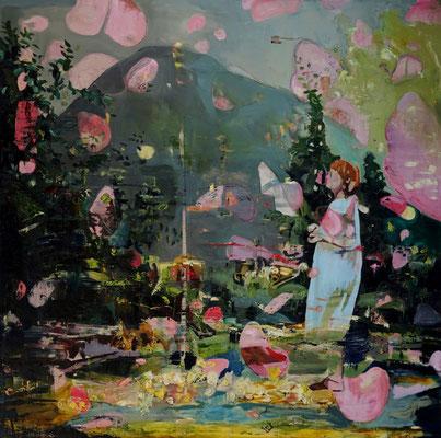 Weisheit liegt jenseits der Möglichkeiten | 2019 | oil on canvas | 200 x 200 cm