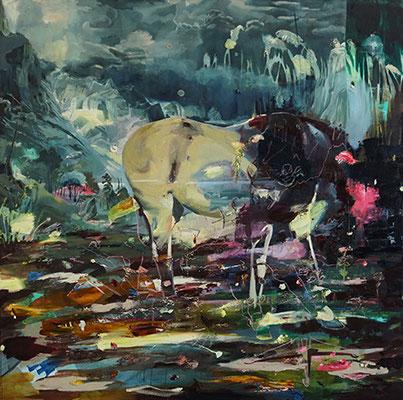 Null | 2020 | oil on canvas | 200 x 200 cm