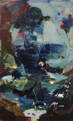 Brandung | 2021 | oil on canvas | 200 x 120 cm