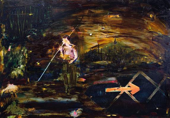 the truce of fragile | 2021 | Öl auf Leinwand | 160 x 230 cm