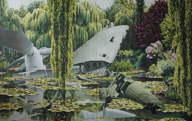 Die Schlacht um Giverny | 2011 | oil on canvas | 250 x 400 cm