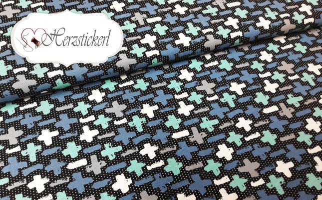 Kreuze / Schwarz-Blau