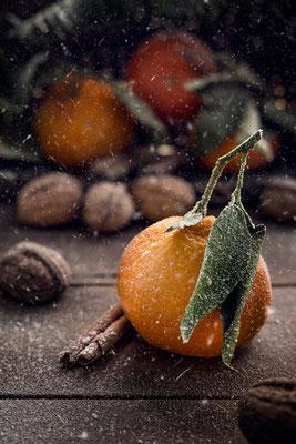 Mandarinen im winterlichen Schneesturm von Tobias Gawrisch (Xplor Creativity)