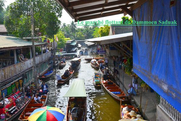 Marché flottant de Dammoen Saduak