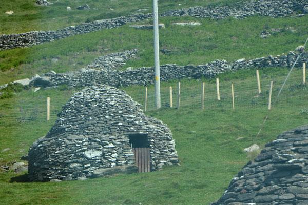 Booley cabane en pierre sèche dans la péninsule de Dingle