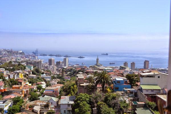 Vue sur la ville depuis la maison de Pablo Néruda