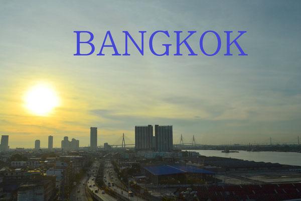Lever du soleil sur Bangkok
