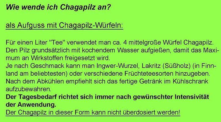 Anleitung: Wie wende ich Chagapilz an?