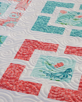 """Coral - Queen Of The Sea"" - Pattern by Hyacinth Quilt Designs"