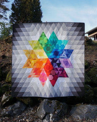 """Gravity Quilt"" - Pattern by Jaybird Quilts"