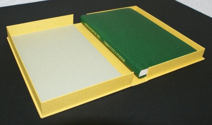 Ganzlederband mit Buchklappschachtel